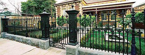 Wrought Iron Fences & Gates Natural Stone Fence Designs