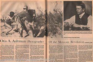 Otis A. Aultman El Gallo Banty  Fotógrafo Estadounidense, que fotografió algunas Batallas  de Francisco Villa, en La Revolución Mexicana.  Subida el 07.17.2014 por El Paso Museum of History Colección: Aultman Scrapbook Central / Downtown, (1910 - 1919), Conoce a El Pasoans  Aultman fuente: http://www.digie.org/media/2227?page=57