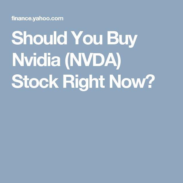 Should You Buy Nvidia (NVDA) Stock Right Now?