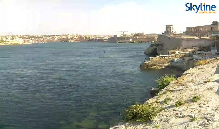 Live Cam Valletta seaside promenade
