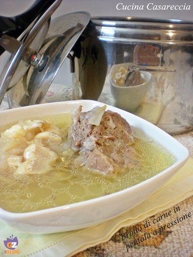 Fare il brodo di carne nella pentola a pressione ricetta facile e veloce per preparare il nostro caldo brodo di carne con lingua osso magro coda