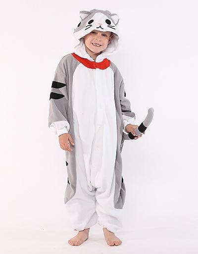 Tabby Cat Kids Animal Onesie Costume
