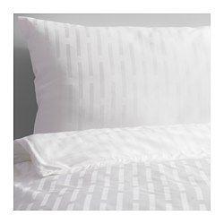 STRANDGYLLEN Bettwäscheset, 2-teilig, weiß, Streifen Bettbezug/Länge: 200 cm Bettbezug/Breite: 140 cm Kopfkissen/Länge: 80 cm