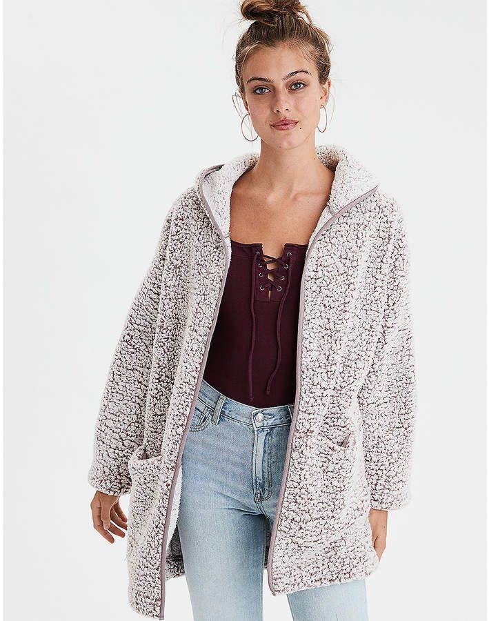 9b6ff5779 American Eagle AE Fuzzy Teddy Sherpa Cardigan | Fashion in 2019 ...