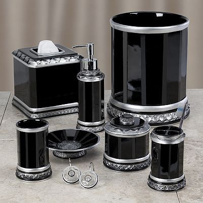 Harlow Black Bath Accessories By Creative Bath