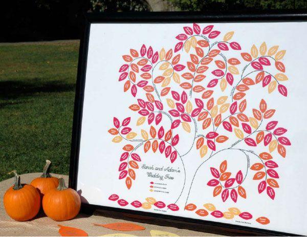 un plan de table bien planté ... dans un arbre !