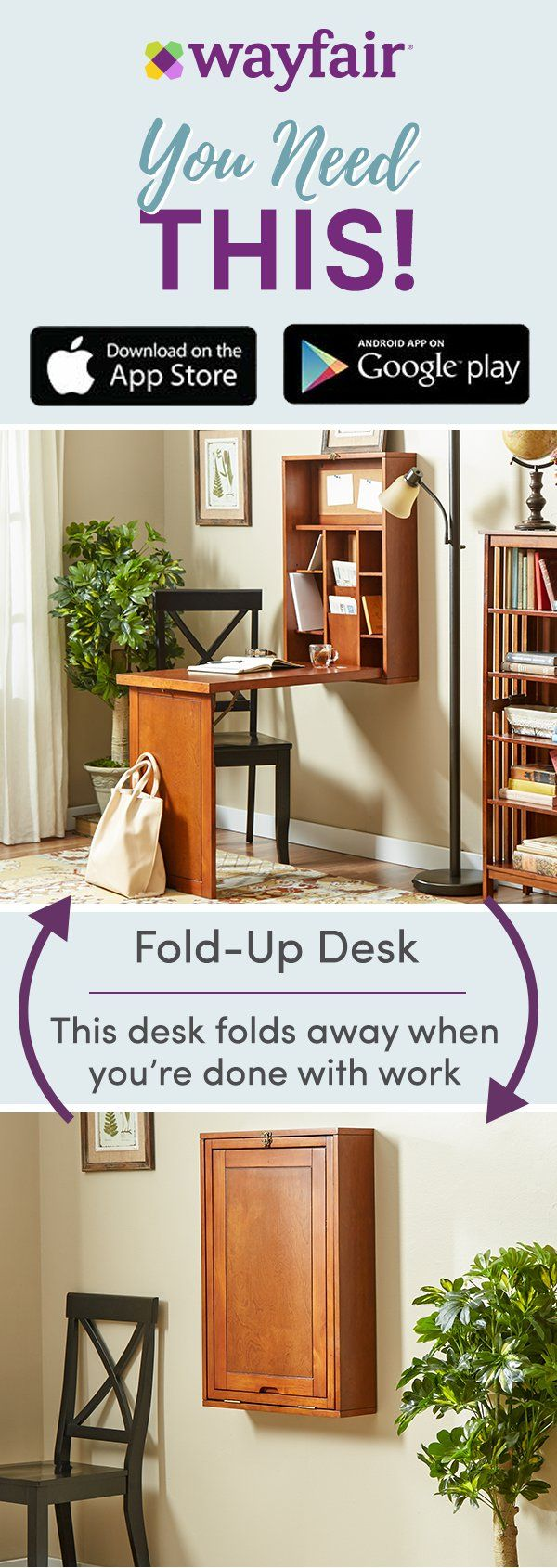 Download the Wayfair app to confidently shop on the go