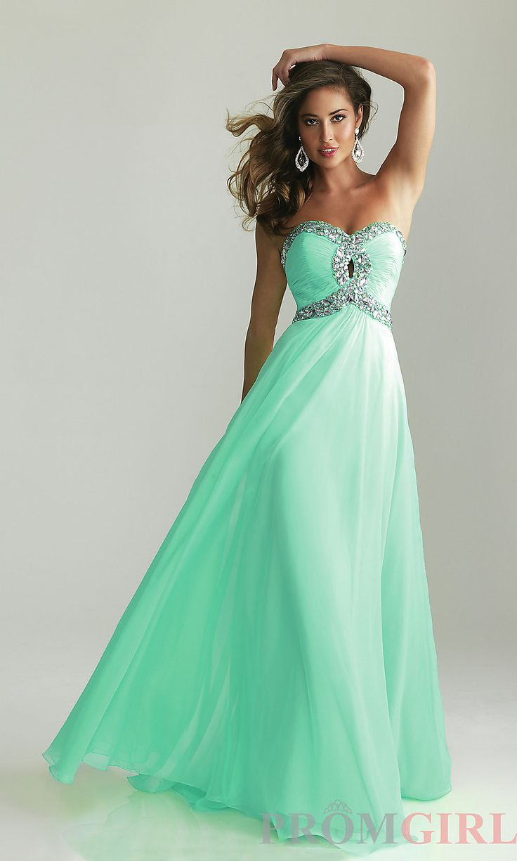 Strapless Prom Gown, Long Strapless Night Moves Dresses- #prom #dresses #gowns