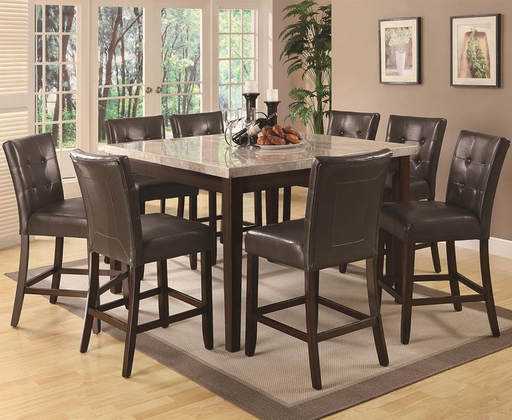 Coaster Milton Counter Height Table W Marble Top