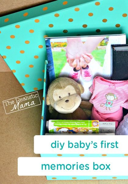 "This DIY memory box is an easy way to cherish all your baby's favorites and ""firsts""—from her favorite blanket or toy to her first outfit! Both you and your child may love to look back at these keepsakes as she grows."