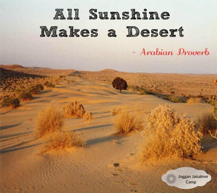 ARABIAN PROVERB - Joggan Jaisalmer Camps