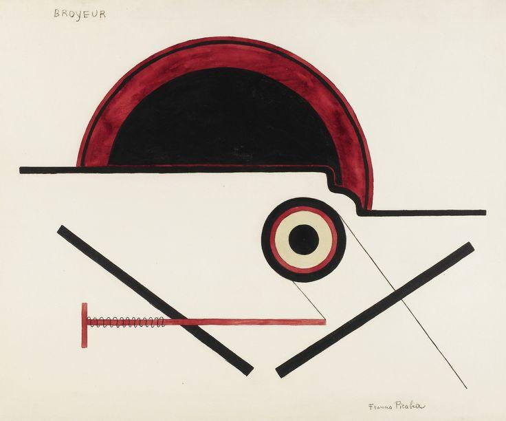 Francis Picabia (français 1879-1953) Broyeur [Shredder], 1922. Aquarelle, brosse et encre et crayon sur papier, 59,8 x 72,7 cm.