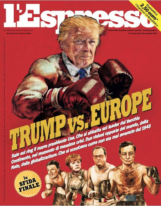 La copertina dell'Espresso in edicola da domenica 20 novembre