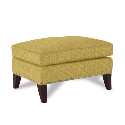 Comfort is always key in a successful room redesign. We love the Charlotte Ottoman in Plaza Dijon. #DreamInColor