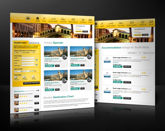 AA Travel portal online solution