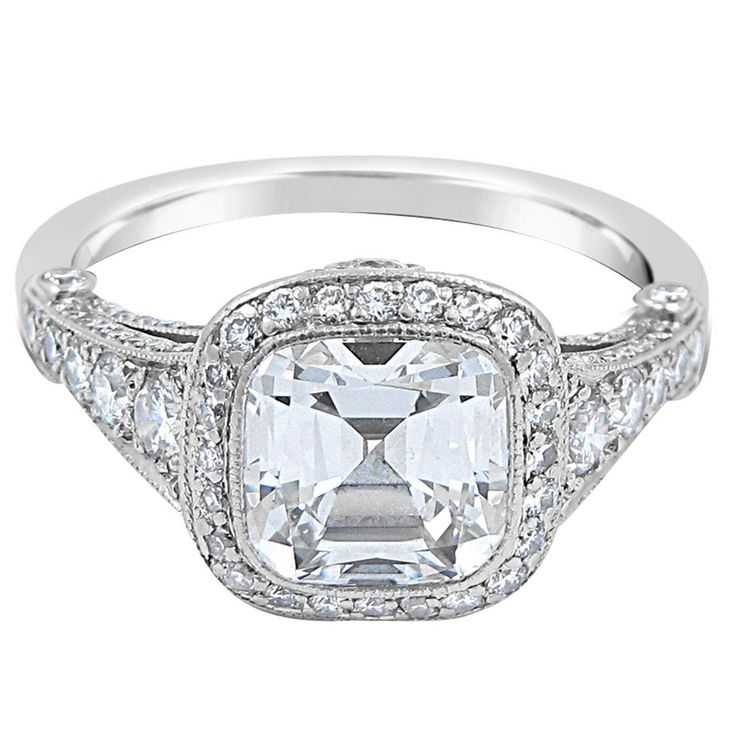 145 best images about cushion cut engagement rings on Pinterest