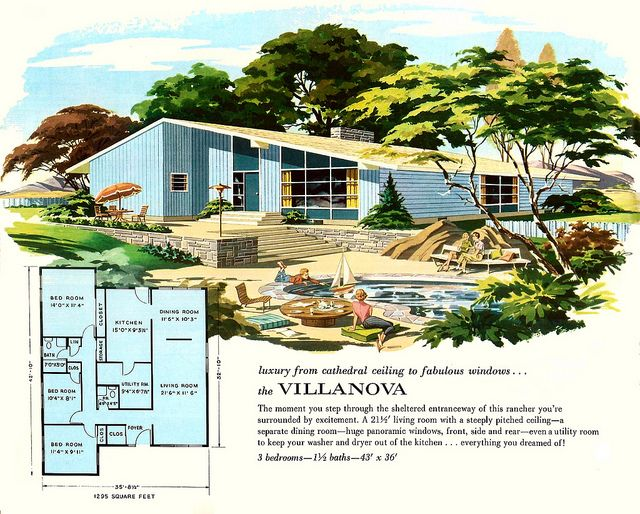 The Villanova - Main Line Homes: More Living For The 1960s by MidCentArc, via Flickr:
