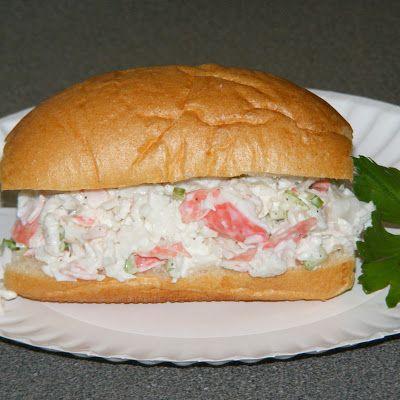 Imitation Crab Salad Pistolettes @keyingredient #bread