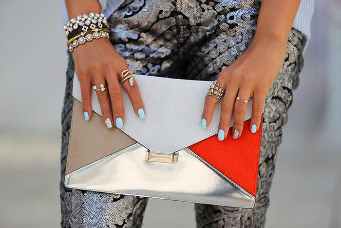 VIVALUXURY - Celine diamond clutch, Vita Fede mini titan crystal ...