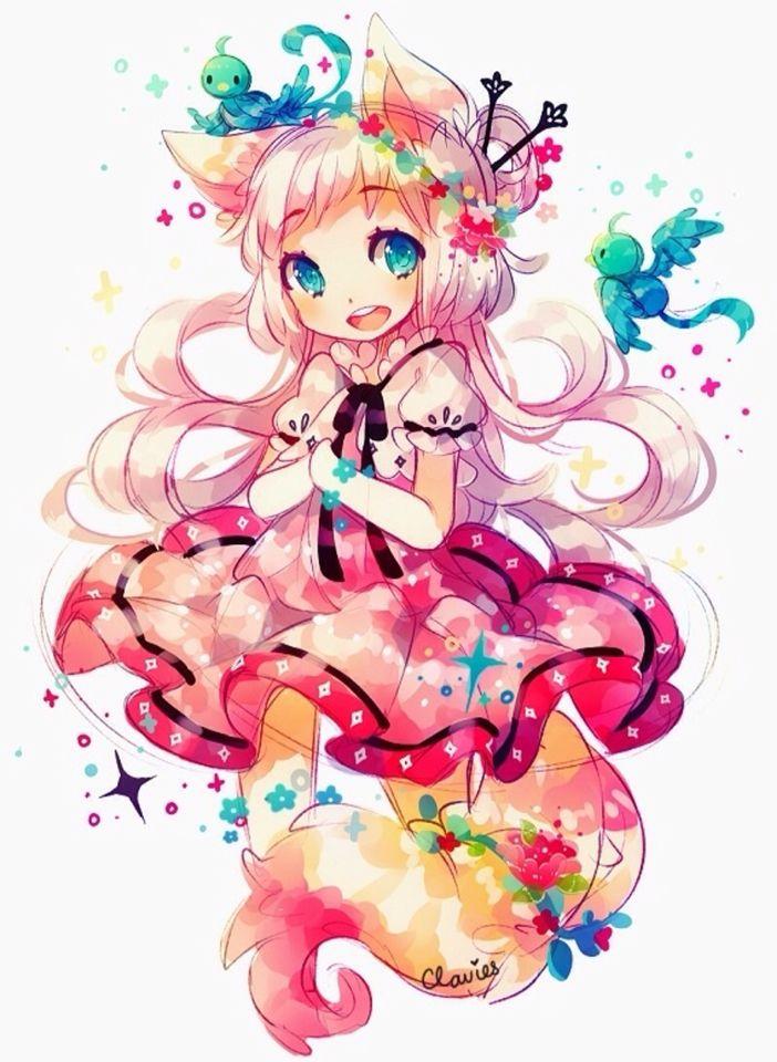 Fond d 39 cran manga kawaii kawaii en 2019 manga kawaii - Photo fille manga ...