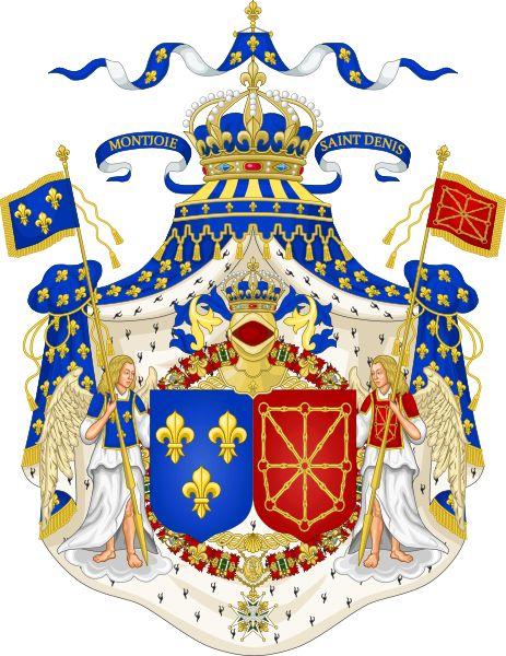 Fichier:Grand Royal Coat of Arms of France & Navarre.svg