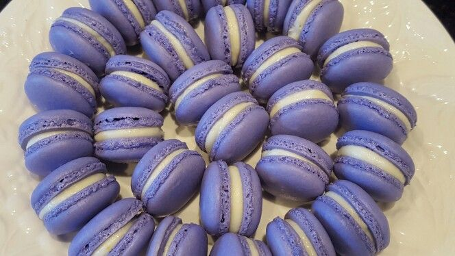 Purple Vanilla and Lemon French Macarons