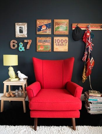 Creating a living room feature wall