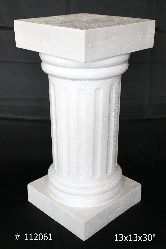Pedestal 30 inch tall in white # 112061