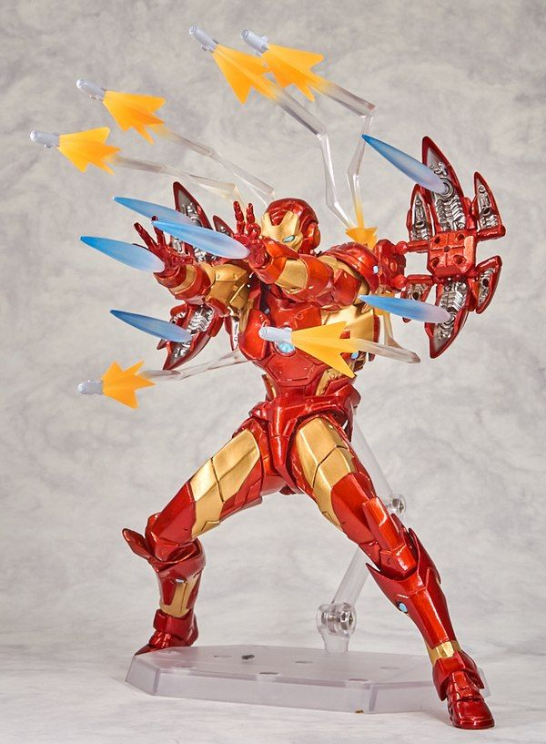 New Marvel Amazing Yamaguchi Revoltech Bleeding Edge Armor Iron Man Figure Images Iron Man Action Figures Iron Man Avengers Iron Man Armor