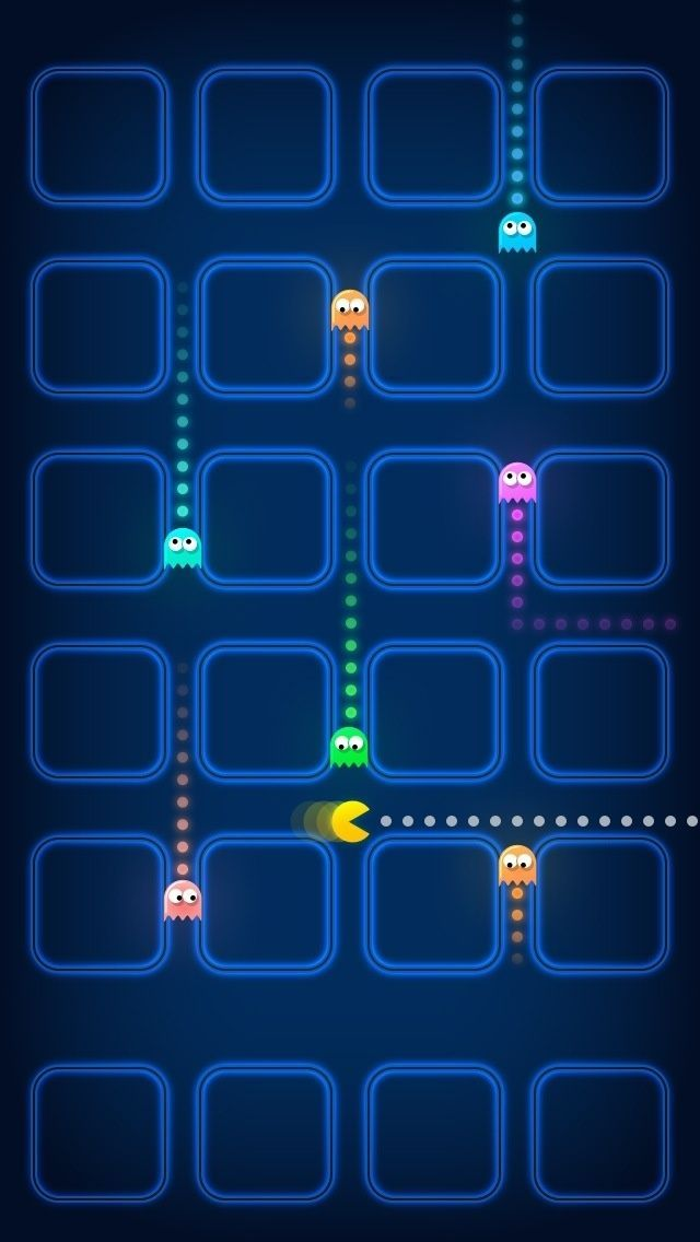 Pacman Game Ghosts Speed Blur iPhone 5 Wallpaper