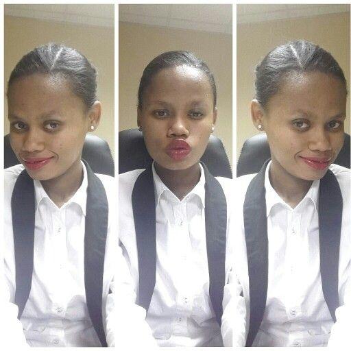 Tuxedo blazer + crisp white shirt +  red lips = CHIC #officelook #ootd #ootn just add denim jeans