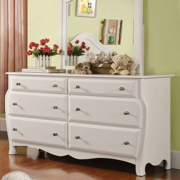 Roxana Cottage Style White Finish 6-Piece Youth Complete Bedroom Set