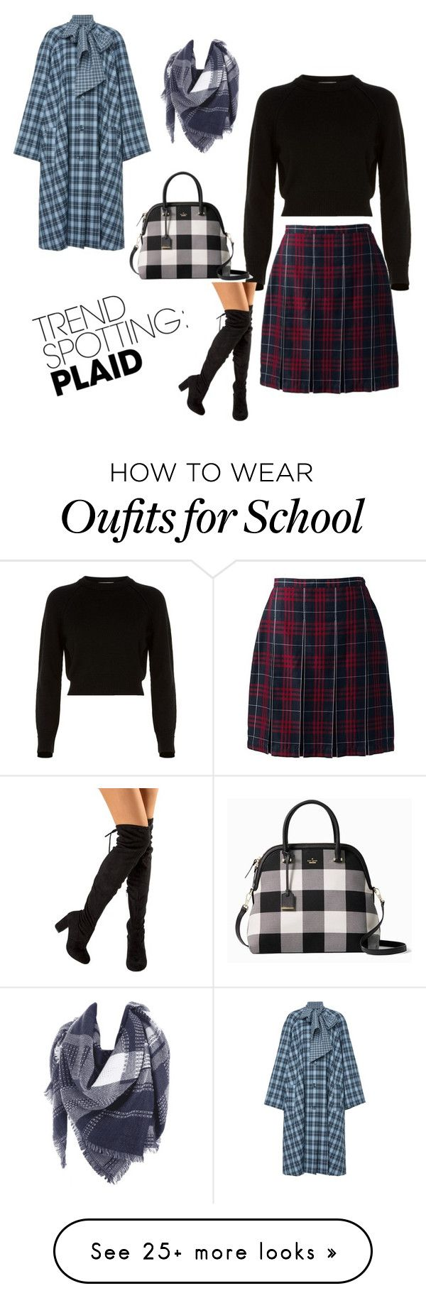 """""""Sem título #41"""" by laisfernanda-1 on Polyvore featuring Helmut Lang, Lands' End, Rodarte, Kate Spade, contestentry and NYFWPlaid"""