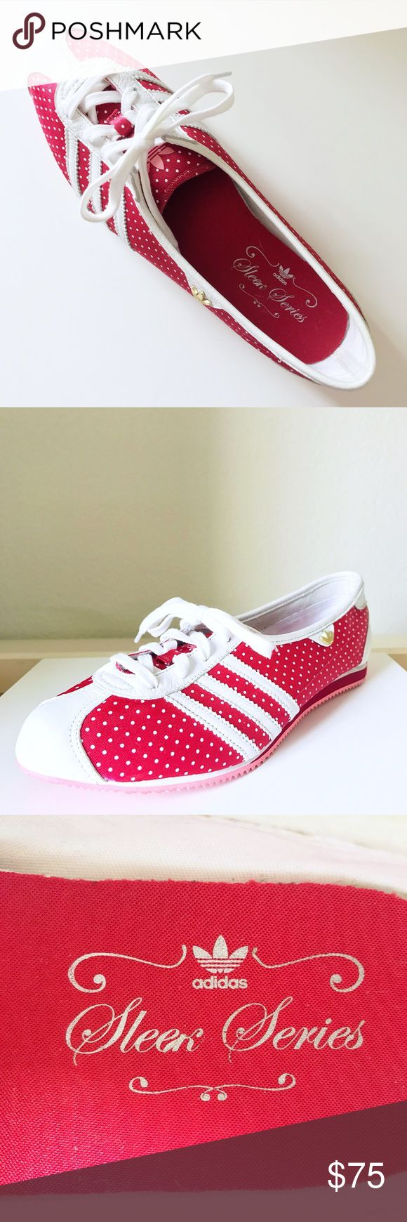 ❤ADIDAS SLEEK SERIES shoes❤ Limited edition & and so fun with the polka dots! I wear a size 7.5 (usually) and this fit a tad big on me, they are in like new condition. Adidas Shoes Sneakers
