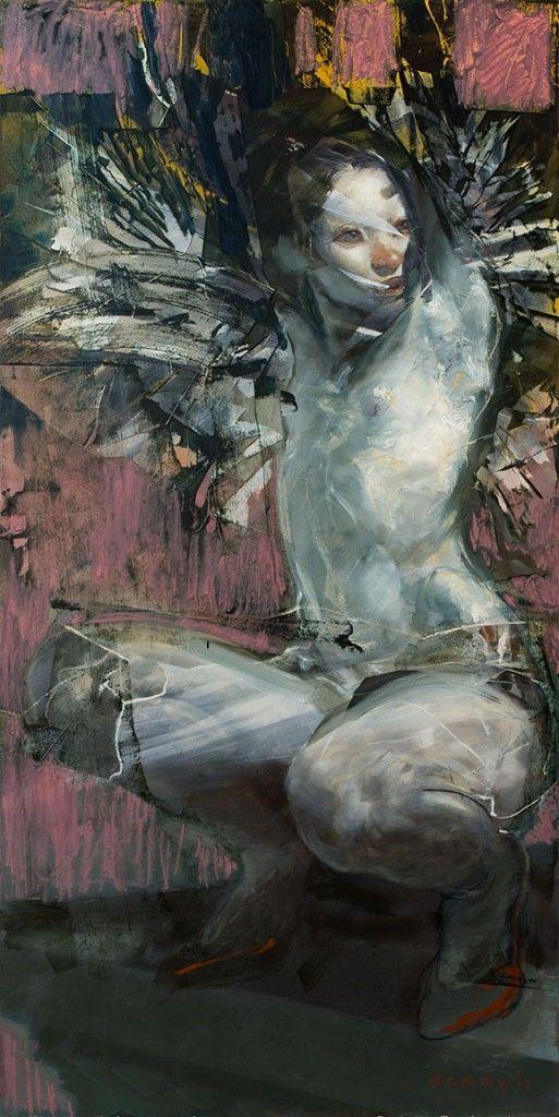 """Cliff Dweller"" ©Rick Berry 2012, oil on panel, 24 x 48"