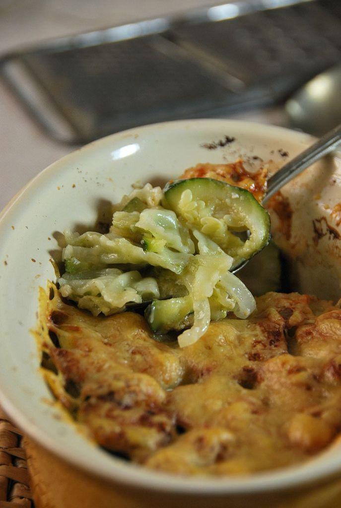 Gratin de ravioles aux courgettes // Zucchini and ravioli gratin