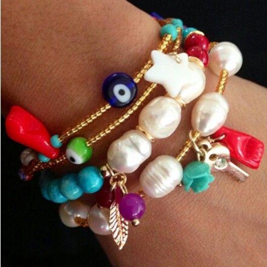 jewelry pulsera accesorios purseras Pinterest Gör det själv, Hantverk och Inspiration