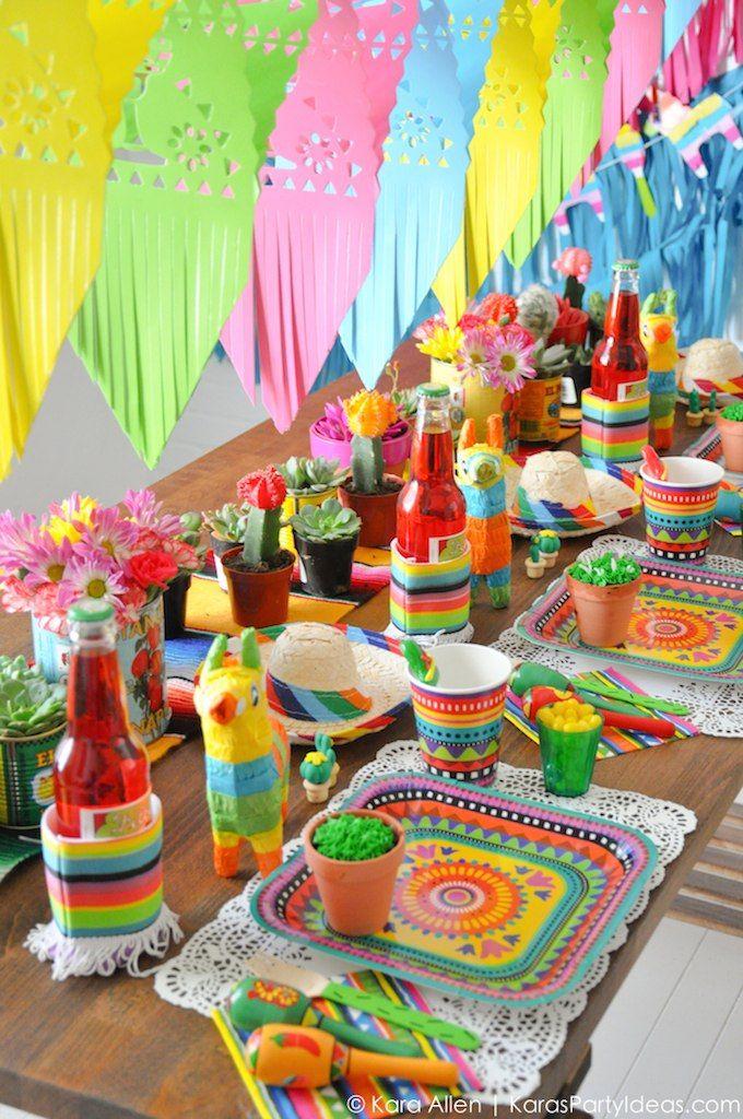 Cinco de Mayo mexican inspired fiesta. | Miren que bonitos colores y detalles para celebrar las fiestas mexicanas con estilo