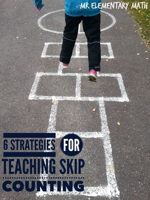 6 Strategies for Teaching Skip Counting - Check out these fun skip counting activities and games.  Number 2 is a BIG hit with kids!
