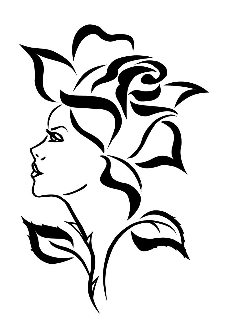 Line Drawing Lady Face : Best ideas about rose stencil on pinterest stencils