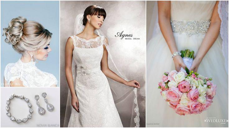 Pink wedding inspiration  earrings and bracelet NOVIA BLANCA biżuteria ślubna www.novia-blanca.pl