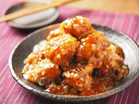 鶏唐揚げのネギ甘酢ソース|魚料理と簡単レシピ