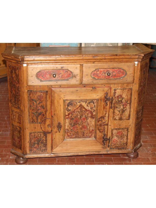 CRE1010 | Mobili antichi Tirolesi - Mobili dipinti - Mobili rustici - Antiquariato - Arredamenti di montagna - Dipinti