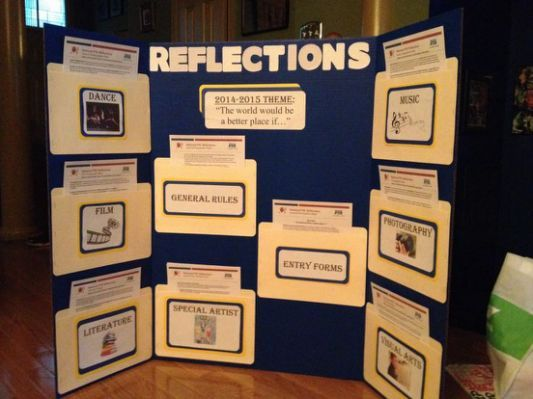 Our PTA Reflections Display 2014-2015