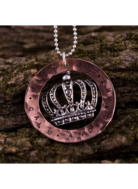 Inspirations jewelry - Keep Calm and Carry On Circle Necklace $49 / The Silver Maple #gift ideas, personalized gifts, gifts for runners, running jewelry, running necklaces, handstamped jewelry, monogrammed necklace, personalized necklaces, customized necklaces