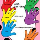 "Students use these Slap hands to ""slap"" a given code word as they exit and enter the classroom.   Could also print two sets and use your various me..."