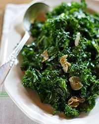 This easy sautéed  kale with garlic and olive oil gets a slight kick from red chili flakes. It's a fantastic side dish and becomes a meal when tossed with al dente pasta  Slideshow: Recipes for Greens