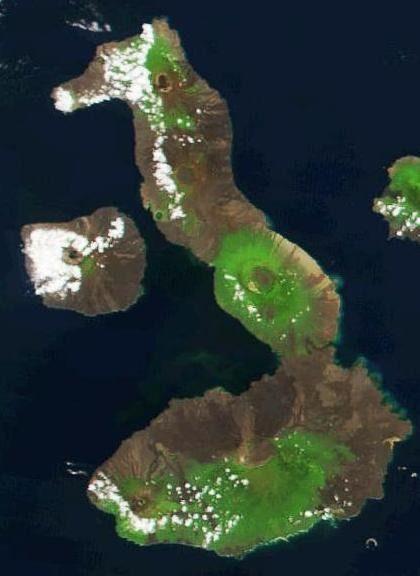 A Galapagos-szigetek legnagyobbja, az Isabela-sziget.