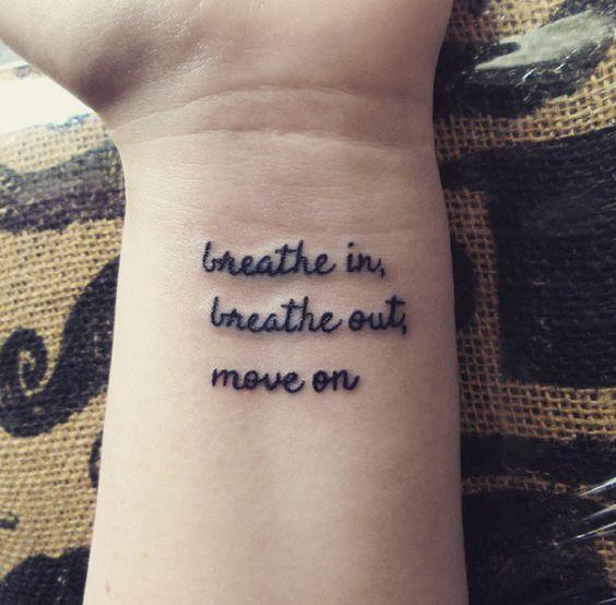 break up quote tattoo