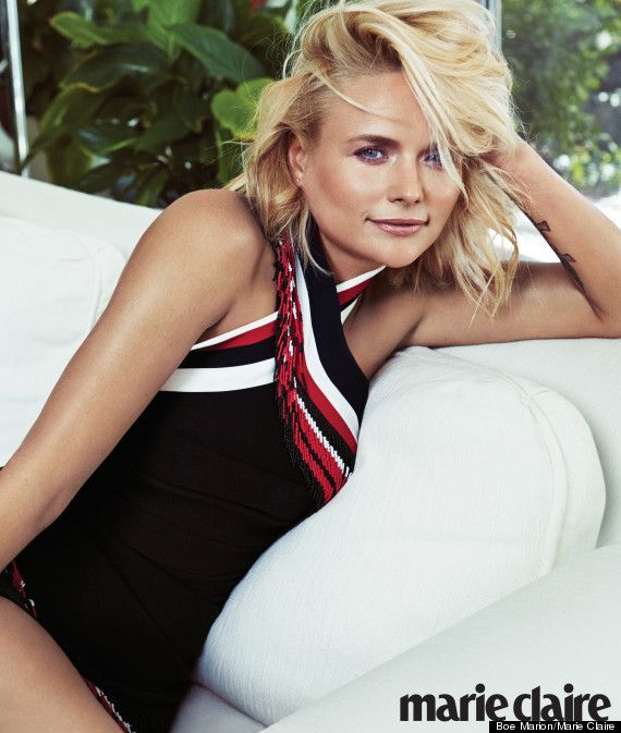 Girl sure can rock a swimsuit! {Miranda Lambert for Marie Claire}